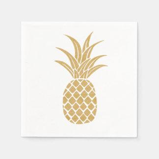 豪奢な金ゴールドのパイナップルナプキン スタンダードカクテルナプキン