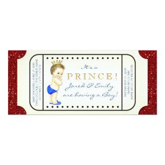 豪奢なTicket王子のベビーシャワー カード