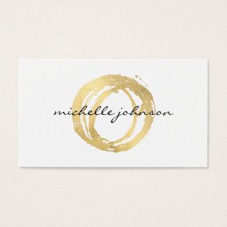 豪華で模造のな金ゴールドの色彩の鮮やかな円デザイナーロゴ 名刺