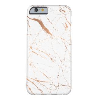 豪華で白いおよびばら色の金ゴールドの大理石 BARELY THERE iPhone 6 ケース