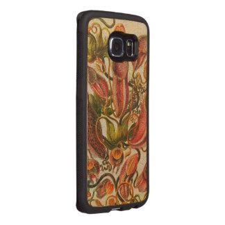 豪華で色彩の鮮やかなヴィンテージの花 ウッドケース