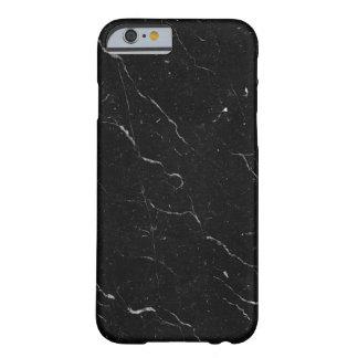 豪華で黒い大理石のiPhoneの箱 Barely There iPhone 6 ケース