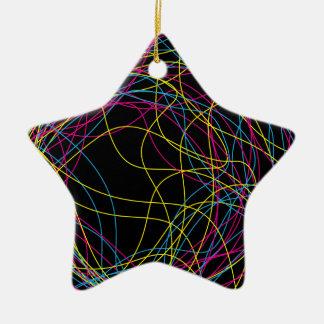 豪華で黒い陶磁器の星 セラミックオーナメント