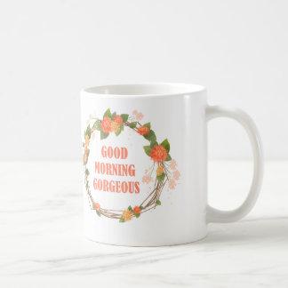 豪華なおはよう コーヒーマグカップ