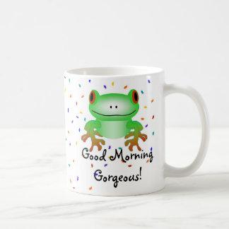 豪華なおはよう! コーヒーマグカップ