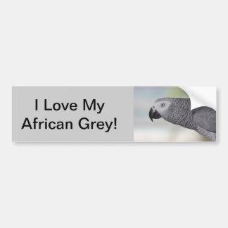 豪華なアフリカ灰色のオウム バンパーステッカー