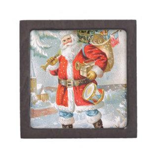 豪華なアメリカの愛国心が強いクリスマスサンタ ギフトボックス