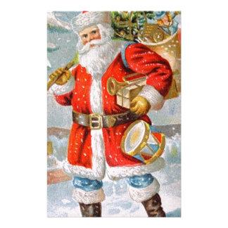 豪華なアメリカの愛国心が強いクリスマスサンタ 便箋