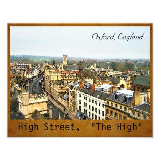 豪華なオックスフォード、イギリスの本町通り、高い#2 フォトプリント
