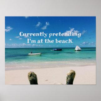 豪華なカリブ島で空想にふけること ポスター