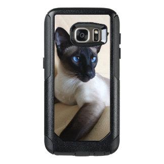 豪華なシャム猫の顔 オッターボックスSamsung GALAXY S7ケース