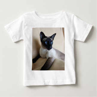豪華なシャム猫の顔 ベビーTシャツ