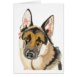 豪華なジャーマン・シェパード、Alsation犬のスケッチ グリーティングカード