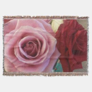 豪華なバラのプリントのブランケット スローブランケット