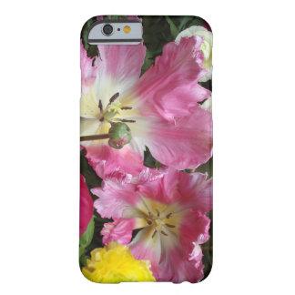 豪華なピンクのオウムのチューリップのiPhone6ケース Barely There iPhone 6 ケース