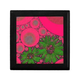 豪華なピンクの緑の花の抽象芸術 ギフトボックス