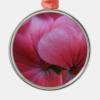 豪華なピンクの花の設計 メタルオーナメント