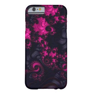 豪華なピンクの黒いフラクタルのiPhone6ケース Barely There iPhone 6 ケース