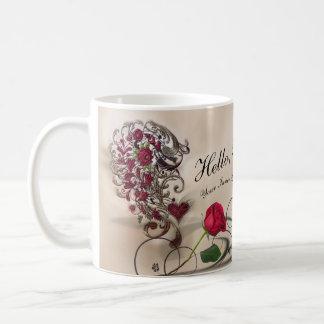 豪華な内部の美しい コーヒーマグカップ