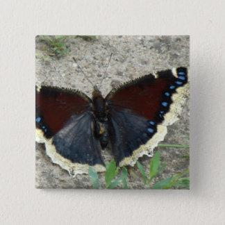豪華な嘆くマント蝶の閉めて下さい 5.1CM 正方形バッジ