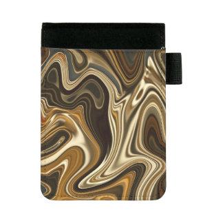 豪華な大理石のスタイル-暖かい茶色 ミニパッドフォリオ