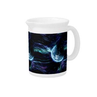 豪華な宇宙の星明かりのオーロラの星雲 ピッチャー