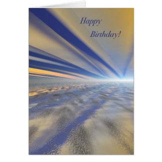 豪華な日の出の芸術のハッピーバースデーカード カード