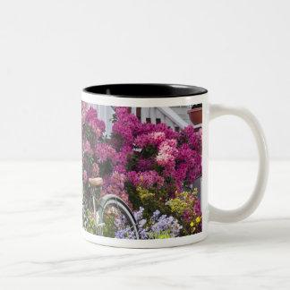 豪華な春の開花、お洒落なアンティーク ツートーンマグカップ