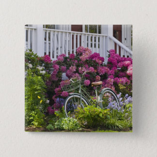 豪華な春の開花、お洒落なアンティーク 5.1CM 正方形バッジ