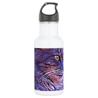 豪華な灰色猫 ウォーターボトル