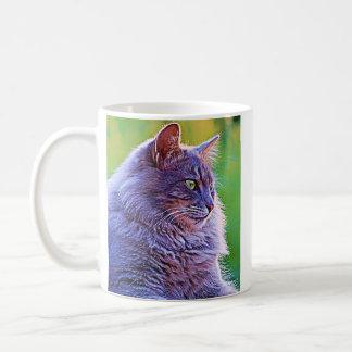 豪華な灰色猫 コーヒーマグカップ