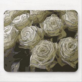 豪華な白いバラのつぼ マウスパッド