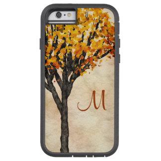 豪華な秋の秋の木のモノグラムのイニシャル TOUGH XTREME iPhone 6 ケース