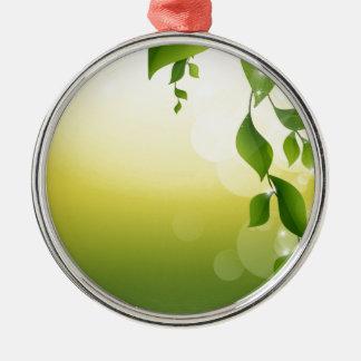 豪華な緑のつる植物 メタルオーナメント
