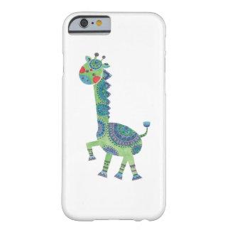 豪華な緑のキリン BARELY THERE iPhone 6 ケース