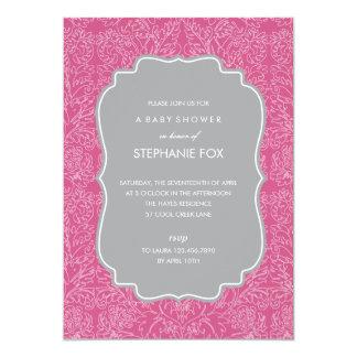 豪華な花のパーティの招待状 (Pink) 12.7 X 17.8 インビテーションカード