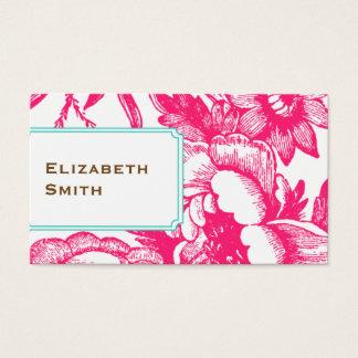 豪華な花のピンクの名刺 名刺