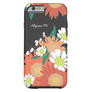 豪華な花パターン名前入りなiPhone 6/6s ケース