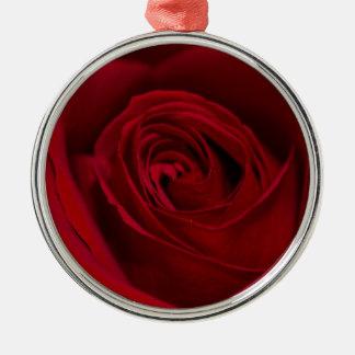 豪華な赤いバラ メタルオーナメント