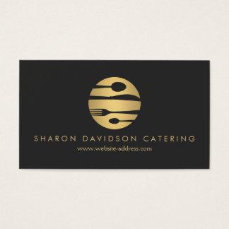 豪華な金ゴールドおよび黒いケータリングのレストラン、シェフ 名刺