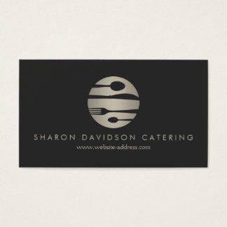 豪華な銀および黒いケータリングのレストラン、シェフ 名刺