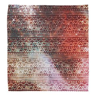 豪華な銀河系の種族の幾何学的で赤いパターン バンダナ