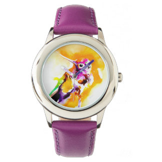 豪華な頸甲のハチドリのプリント 腕時計