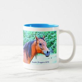 豪華な馬の晴れた日 ツートーンマグカップ