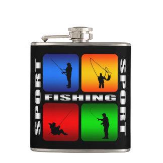 豪華な魚釣りのスポーツのスキットル フラスク