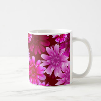 豪華な、ピンクの花 コーヒーマグカップ