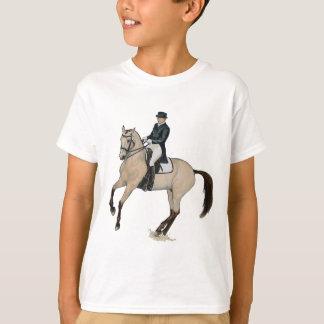 豪華なBuckskinの馬場馬術の馬の芸術 Tシャツ