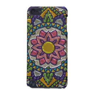 豪華なGlasslike曼荼羅の携帯電話の箱 iPod Touch 5G ケース