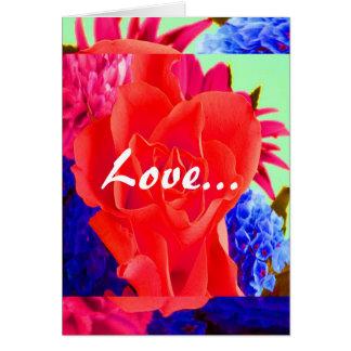 豪華 赤い 上がりました バレンタイン 平野 III カード グリーティングカード