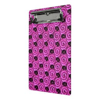 貝および花のピンク ミニクリップボード